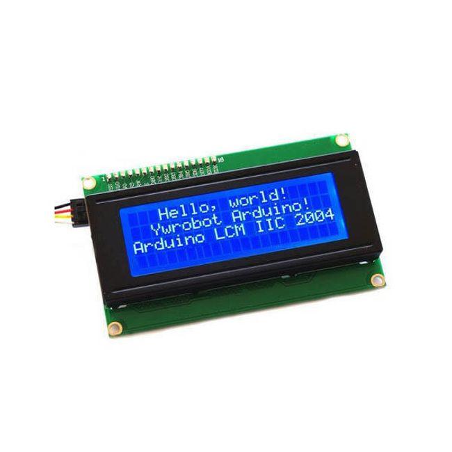 LCD kijelző kék háttérvilágítással Arduino számára - 20 karakter, 4 sor 1