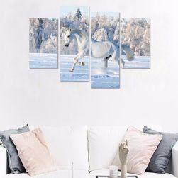Obraz koně ze čtyř nebo pěti částí - bez podložek a rámů