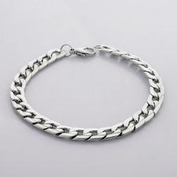 Brăţară metalică pentru bărbaţi culoare argintie