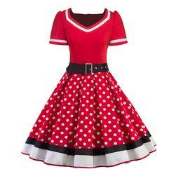 Vintage šaty s puntíky