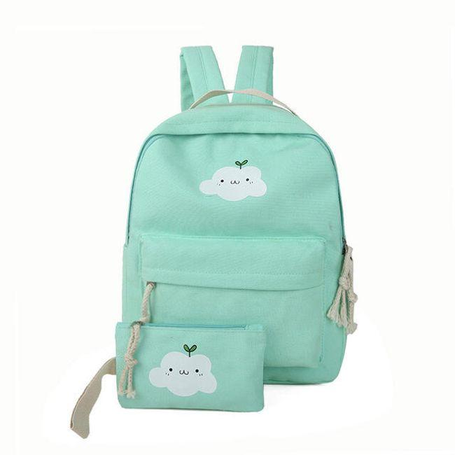 Рюкзак с кошельком с принтом облака - 6 цветов 1