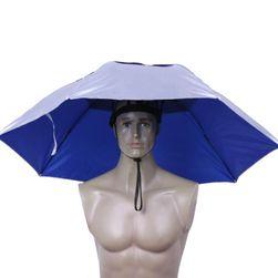 Składany parasol na głowę
