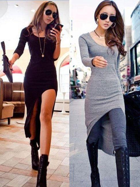 Zanzea® dlouhé bavlněné šaty s rozparkem - ve 2 barvách 1