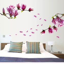 Autocolant pentru perete - flori roz 3D