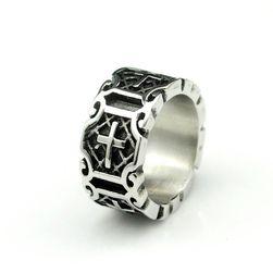 Pánský prsten s křížky - 6 velikostí