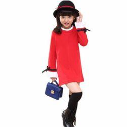 Dívčí šaty s volánkovými rukávy - 3 barvy