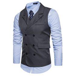 Pánská vesta s proužky - 3 varianty