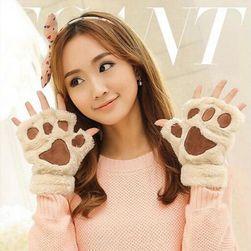 Женские милые перчатки- Лапки