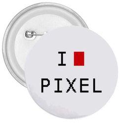 Kitűző I love pixel