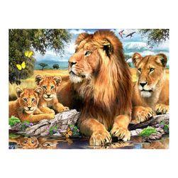 DIY slika od kamenja - lav