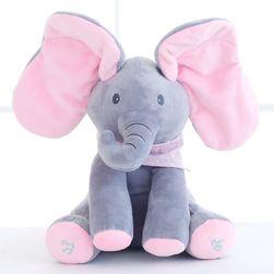 Музыкальный плюшевый слон