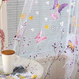 Тюль с бабочками - 2 цвета
