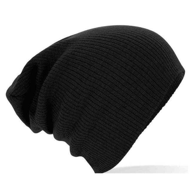 Trendy pletená čepice v černé barvě  1