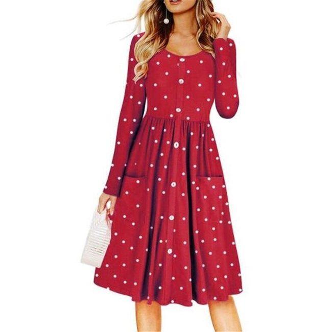 Ženska haljina sa dugačkim rukavima Acacia 1