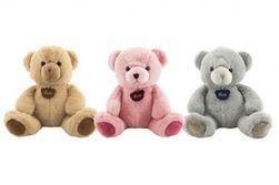 Medveď plyš 40cm 3 farby v sáčku 0+ RM_56800056