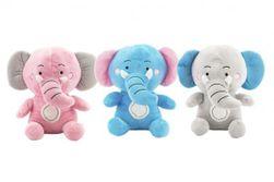 Slon sediaci plyš 24cm 3 farby v sáčku 0+ RM_56800051