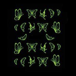 Luminiscenční motýlci na nehty