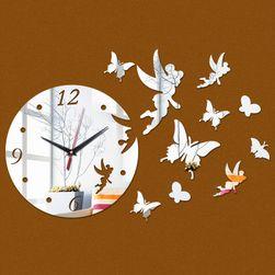Zegar lustrzany z wróżką i motylami- 3 kolory