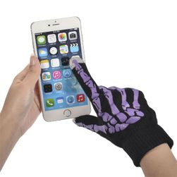 Víceúčelové zimní rukavice pro ovládání dotykového telefonu - bílá