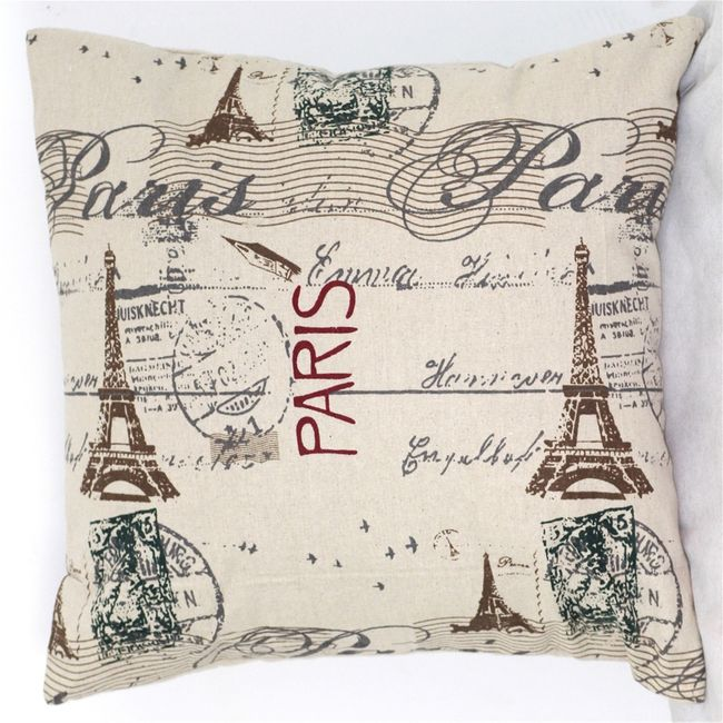 Prevleka za vzglavnik z motivi Pariza 1
