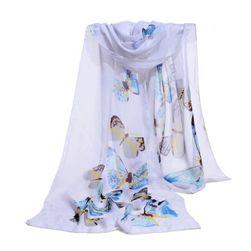 Lekka apaszka z motylkami - 8 kolorów