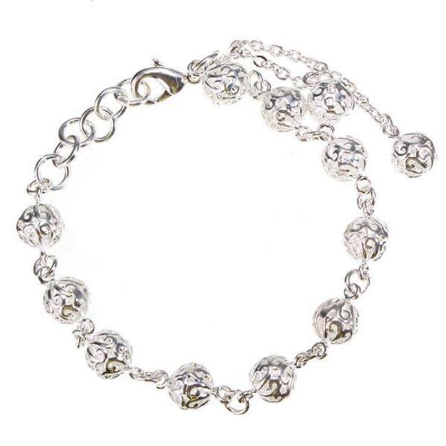 Karkötő gyöngyökkel - ezüst színű 1