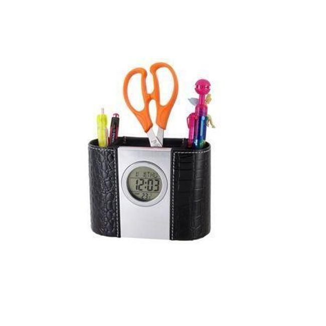 Stojan na tužky s digitálními hodinami, kalendářem a teploměrem 1