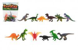 Zwierzęta dinozaury mini plastikowe 6-7cm 12szt w torbie RM_00850201