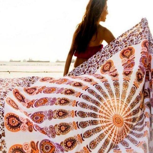 Univerzální bohémský šátek s motivem mandaly - 05 1