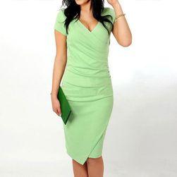 Dámské elegantní šaty Lacina - Kávová-velikost č. 5