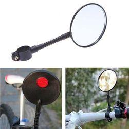 Lusterko wsteczne ze światłem odblaskowym na rower