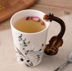 Kubek ceramiczny z motywem muzycznym - 8 wariantów