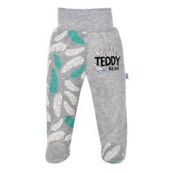 Детски памучни половинки Wild Teddy-сив / 68 (4-6 м) SR_DS20191625