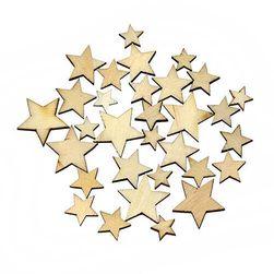Drvene zvezde za ukrašivanje domaćinstva