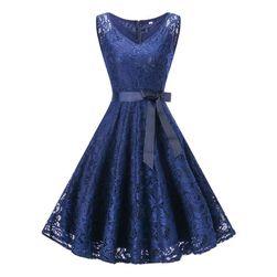 Rochie vintage cu dantelă - 3 culori