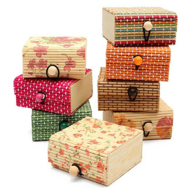 Cutie de bijuterii din lemn de bambus 7