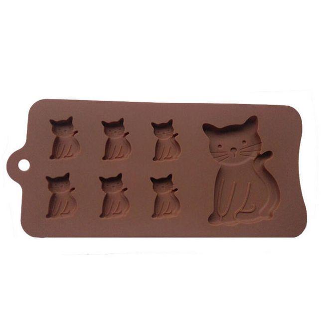 Formička na čokoládu - kočičky 1