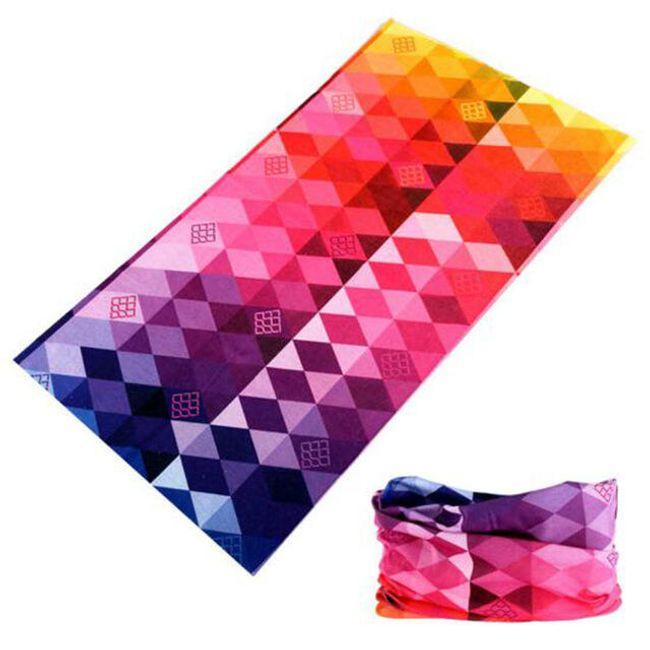 Multifunkční sportovní šátek pro ženy i muže - různé vzory 1