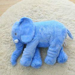 Плюшен слон Aaron 40cm-Modrá