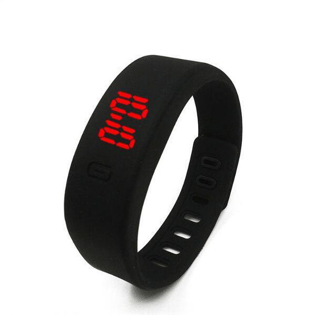 Силиконова гривна с дигитален часовник 1