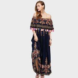 Letní maxi šaty bez ramínek