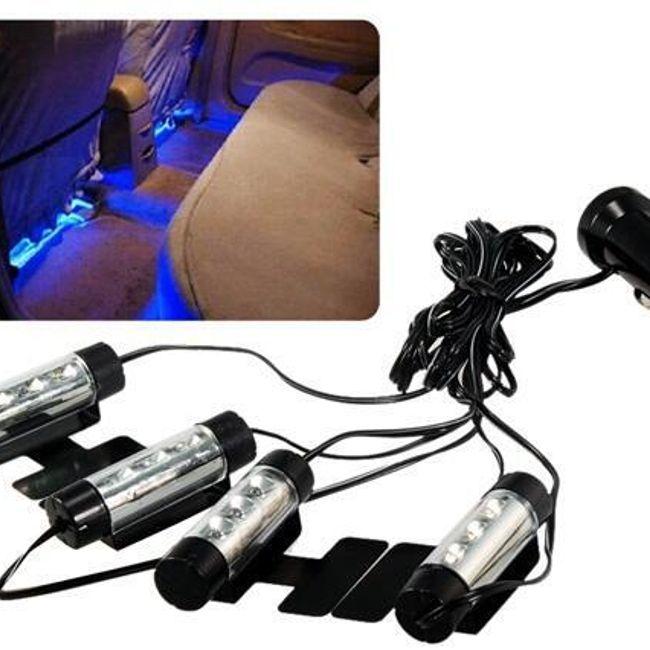 Синее LED освещение для салона автомобиля 1