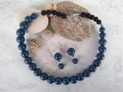 Sada šperků s minerálem Láva