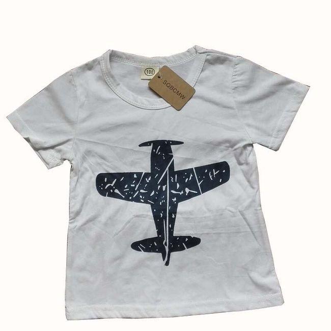 Klučičí tričko s letadýlkem - 3 barvy 1