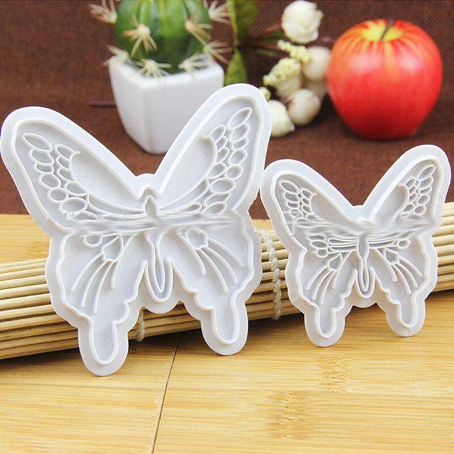 Forma na fondán motýlek - 2 ks 1