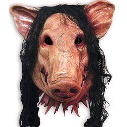 Strašidelná maska - prase s vlasy