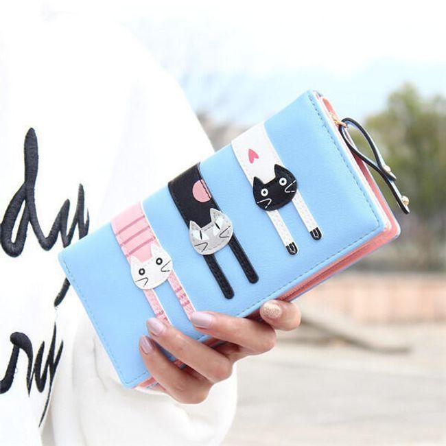 Aranyos női pénztárca macskákkal