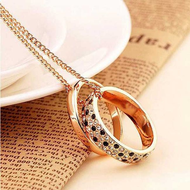 Długi łańcuszek z dwoma pierścieniami 1