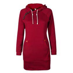 Sukienka bluzowa z kapturem - 5 kolorów