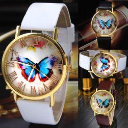 Dámské hodinky s barevným motýlem